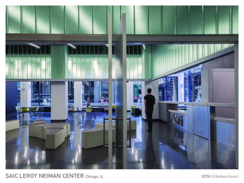 SAIC Leroy Neiman Center, Chicago, IL. VDTA © Photos Barbara Karant.
